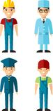 Set of people icons. Royalty Free Stock Photography