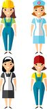 Set of people icons. Occupation avatars in colorful style Royalty Free Stock Photo