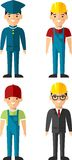 Set of people icons. Stock Photo