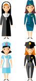 Set of people icons. Occupation avatars in colorful style Stock Images