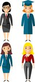 Set of people icons. Occupation avatars in colorful style Royalty Free Stock Image