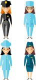 Set of people icons. Occupation avatars in colorful style Stock Photo