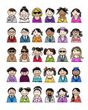 Set of people icons for your design Royalty Free Stock Images