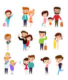 Set of  people Royalty Free Stock Photos