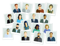Set of people illustrations Royalty Free Stock Image