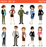 Set of people at office Stock Photography