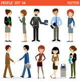 Set of people at office. Stock Photography