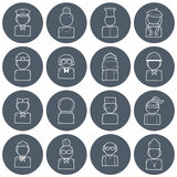 Set of people profession icons Stock Image