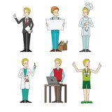 Set of people professionals occupation Vector illustration Stock Image