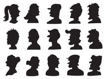 Set of people profile silhouette Royalty Free Stock Image