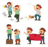 Set of people protest. Vector,illustration Royalty Free Stock Photos