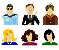 Set people vector Royalty Free Stock Photos