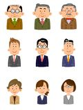 Set of people working at the office, Various ages, gender vector illustration