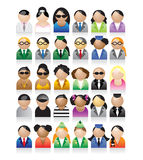 Set of peoples icons. Vector illustration Royalty Free Stock Image