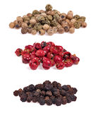 Set of pepper heaps isolated on white Stock Image