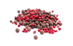 Set of pepper heaps. Stock Images