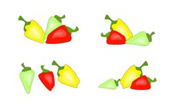 Set of pepper Royalty Free Stock Images