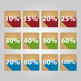 Set of percent icons. Royalty Free Stock Photos