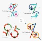Set of percentage signs, flat design Stock Image