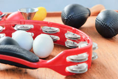 Set of Percussion Instrument Stock Photos
