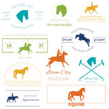 Set of perfect high quality horse labels Royalty Free Stock Photography