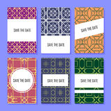 Set of perfect vector card templates, ideal for Save The Date, baby shower, mothers day, valentines day, birthday cards Stock Photography