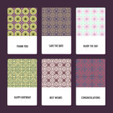 Set of perfect vector card templates, ideal for Save The Date, baby shower, mothers day, valentines day, birthday cards Royalty Free Stock Photos