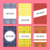 Set of perfect vector card templates, ideal for Save The Date, baby shower, mothers day, valentines day, birthday cards Royalty Free Stock Image