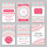 Set of perfect wedding templates with doodles Stock Photography