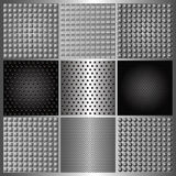 Set of perforated iron Royalty Free Stock Image