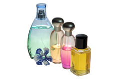 Set of perfume Stock Photo