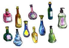 Set of perfume bottles Royalty Free Stock Image