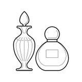 Set of perfume bottles icon, vector illustration vector illustration
