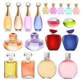 Of a set of perfume bottles Royalty Free Stock Photo