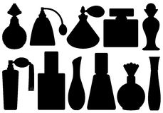 Set Of Perfume Bottles Royalty Free Stock Images