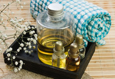 Set of perfume oils Royalty Free Stock Images