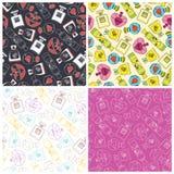 Set of perfume seamless pattern background. Vector illustration Stock Photo