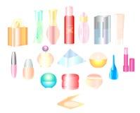 Set of perfumery. On white background Royalty Free Stock Photography