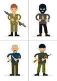 Set of personages. Terrorists and offenders Royalty Free Stock Images