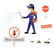 Set of Pest Control Banner Stock Photography