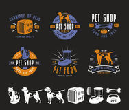 Set of pet care labels, badges and design elements Stock Photography