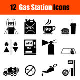 Set of Petrol station icons Royalty Free Stock Photography