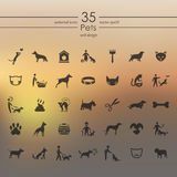 Set of pets icons Royalty Free Stock Image