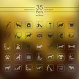 Set of pets icons Stock Photography
