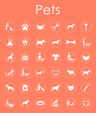 Set of pets simple icons Stock Photo