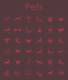 Set of pets simple icons. It is a set of pets simple web icons Royalty Free Stock Photo