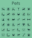 Set of pets simple icons. It is a set of pets simple web icons Stock Photography