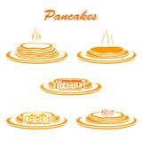 Set Pfannkuchen Lizenzfreie Stockfotos