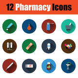 Set of pharmacy icons Stock Images
