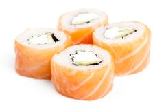 Set of philadelphia rolls Stock Photo